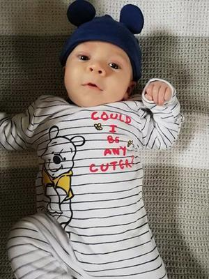 Baby JJ Harford died of cot death aged just 10 weeks on February 17 last year