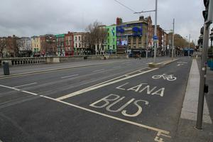 The seating area would have looked out on to O'Connell Bridge