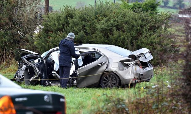 The scene of the crash near Kilcummin, Co Kerry in which an elderly man died. He was the fourth fatality in just nine days
