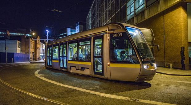 The incident happened on the Luas Red Line on January 11