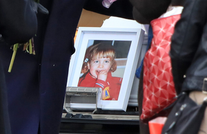 A photograph of Zoe Whitford displayed at her funeral. Photo: Colin Keegan, Collins Dublin.