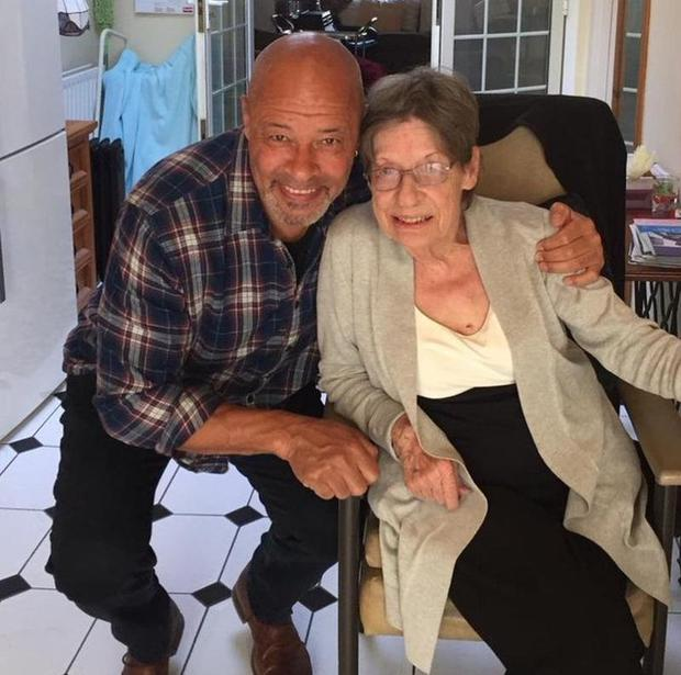Paul McGrath with his mother Betty Lowth