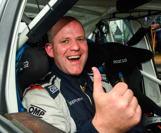 Manus Kelly was killed in the crash during the rally on Sunday