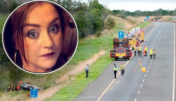Tragic Nicola Kenny (inset) was killed when a lorry veered off the road and hit her vehicle