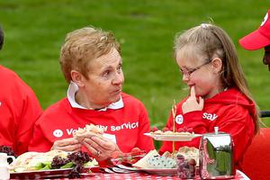 The Red Cross Movement is the inspiration for the Geneva Conventions and other treaties governing the rules of war. Pic shows Agnes Johnson with Molly Ann Flynn Waterford , during their Picnic in the Park for Fifty Year Celebrations.  The Seven Fundamental principles are central to the delivery of our humanitarian mission and our recognition as a trusted provider of aid in times conflict, disaster or crisis. Around the world, the Red Cross Movement will use Red Cross Day to raise awareness of our principles and their relevance in the current humanitarian environment. In Ireland, seven Red Cross Stars from all walks of life and ranging in age from nearly 8 to over 80 will meet each other for
