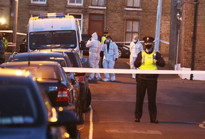 Gardaí and a forensics team attend the scene in Phibsboro