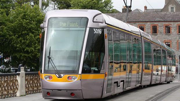 A Luas had to be used to transport the injured woman
