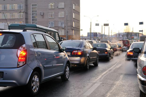 Car exhaust fumes are a source of air pollution