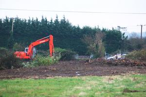 The site on The Swords Road, Malahide where a Skull was found.