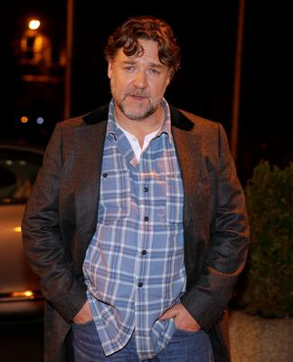 Russell Crowe arriving at the Late Late Show at RTE in Dublin in 2015. Picture:Arthur Carron