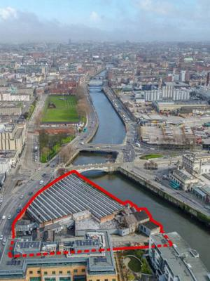 Old Hickey's site on Parkgate Street near Heuston Station