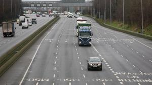 The incident happened on the M50 in Dublin