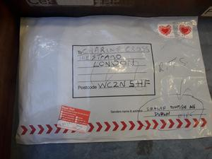 The suspect package at the National Return Letter Centre in Limerick