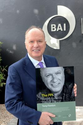 Tony Fenton when he was inducted into the PPI Radio Awards Hall of Fame last September
