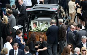 The funeral of Olivia Burke, one of the victims of the Berkeley balcony tragedy, at the Church of Our Lady of Perpetual Succour in Foxrock in Dublin this morning