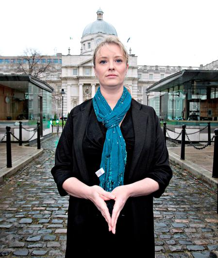 Mairia Cahill   on arrival for  her meeting with  Taoiseach Enda  Kenny ,TD  at Government Buildings yesterday