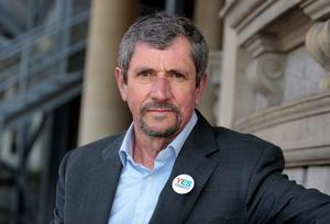 Retired RTE Journalist Charlie Bird, a supporter of the I'M Voting Yes.Ask Me Why campaign  who hosted the  launch  by the Campaign for Civil Marriage Equality at the National Library of Ireland,Kildare street Dublin yesterday.Pic Tom Burke 9/4/2015