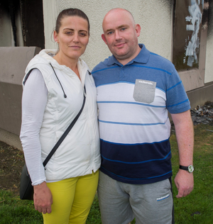 Daniel Farrell and his partner Lorraine Smith rescued a woman from the fire at Cromcastle Court