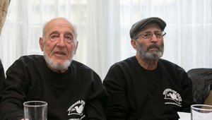 Ken Mayers and Tarak Kauff during a press briefing by Veterans for Peace in Dublin