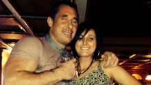 Alan O'Neill with his partner Michelle Usher