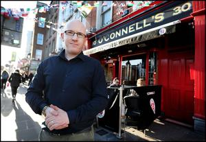 Brian O'Connell from O'Connell's Pub on Bachelors Walk near O'Connell Bridge.