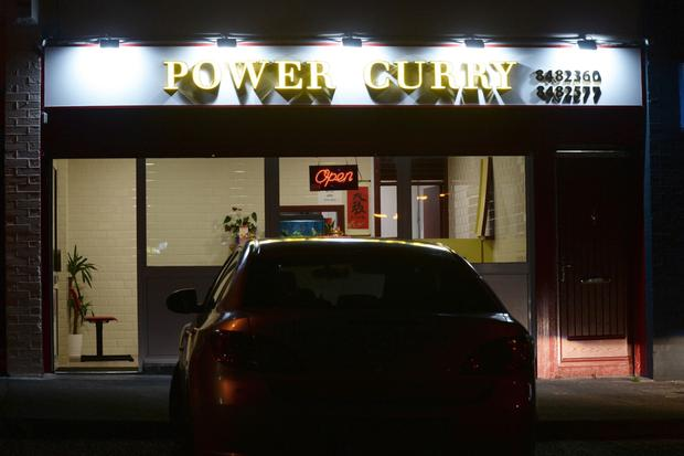 The Power Curry takeaway was targeted in an attempted armed robbery