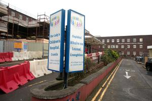 Thefts at Our Lady's Children's Hospital Crumlin (pictured) and St Vincent's Hospital have been linked to the thug