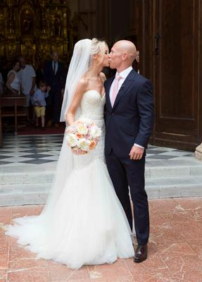 The wedding of Irish rugby union player Peter Stringer and Deborah O'Leary.