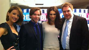 Rep of Telly cast with frequent guest Georgia Salpa