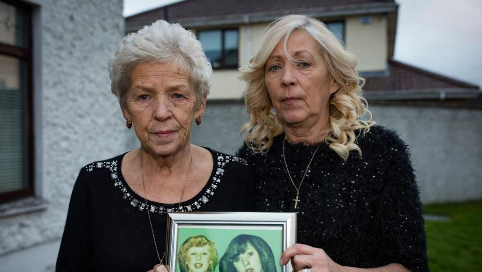 Antoinette, who lost sisters Mary and Martina, with mum Christine