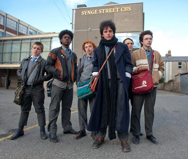 Cast from the film Sing Street. Now the show is heading for Broadway