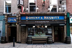 Doheny & Nesbitt is grappling with the                   loss of the usually busy lunch and tourist trade
