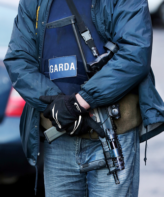 Armed gardai are on streets