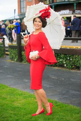 Winner of the Carton House Most Stylish Lady Laura Elliot from Belfast