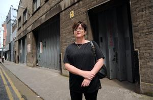 Clery's Concession Retailer Helen Lynch, director of Irish Design, pictured after removing her stock from Clery's goods entrance
