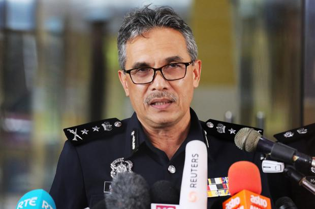 Negeri Sembilan State Police Chief Mohamad Mat Yusop speaks during a news conference