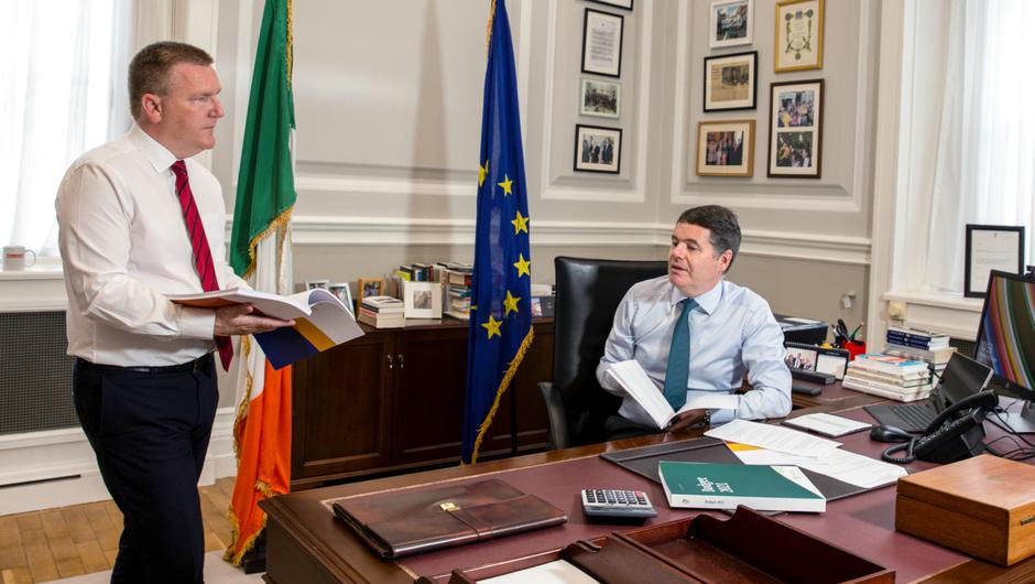 Public Expenditure and Reform Minister Michael McGrath and Finance Minister Paschal Donohoe