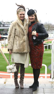 Dubliners Kiara Kennedy (left) and Tamso Doyle at the Cheltenham Festival last year.