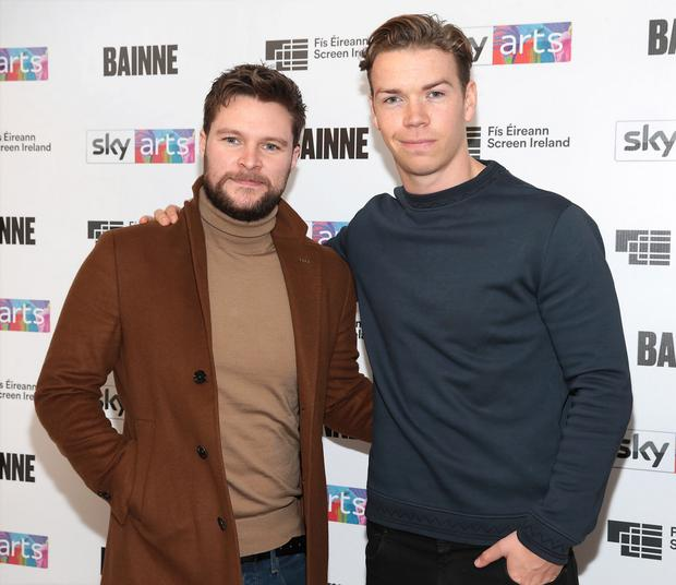 Jack Reynor pictured with Actor Will Poulter