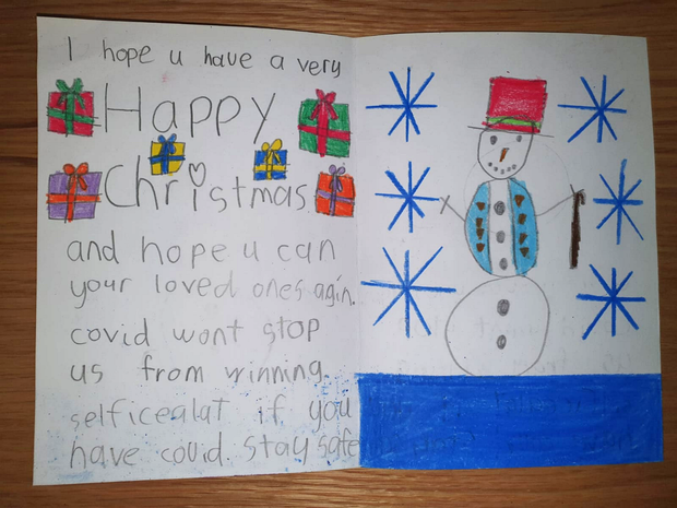 One of the Christmas cards