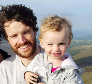 Vincent Wall and daughter Estlin. The little girl died in a tragic road accident aged three