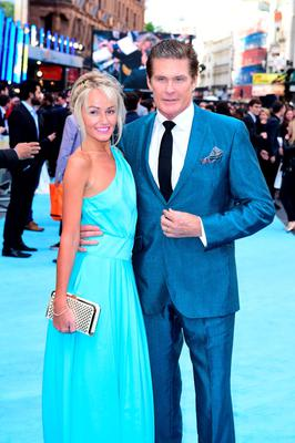 David Hasselhoff and his partner Hayley Roberts. Photo: Ian West/PA Wire
