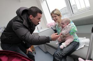Irish international rugby star Jonathan Sexton pictured  at Our Lady's Children's Hospital, Crumlin.