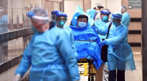 A patient with suspected coronavirus in Hong Kong