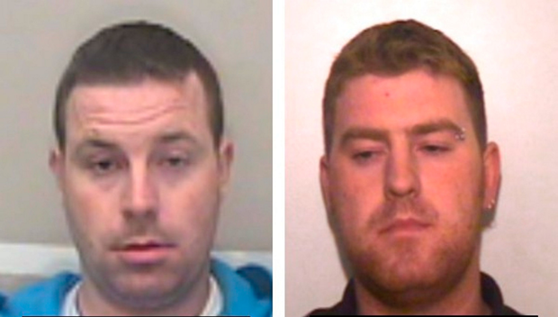 Christopher (left) and Ronan Hughes have been urged to hand themselves in to the PSNI. Photo: PA