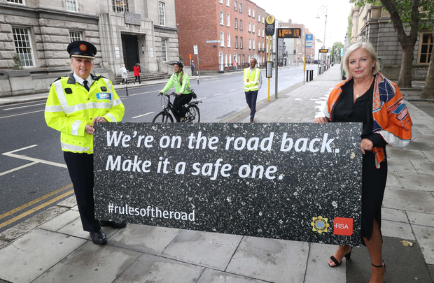 The launch of the new road safety campaign in Dublin