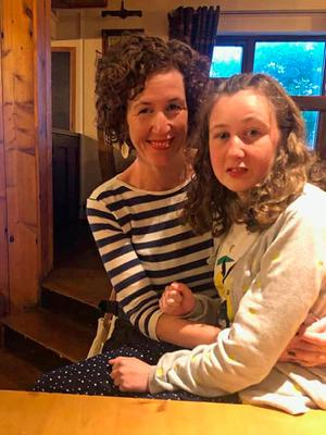 Teenager Nora Quoirin with her mother, Meabh