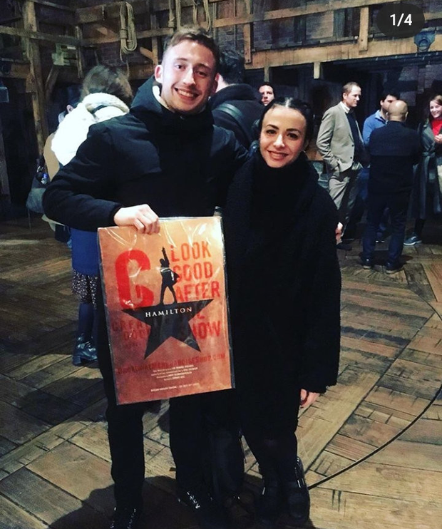 Amilia and Conall Keating took in Hamilton on Broadway