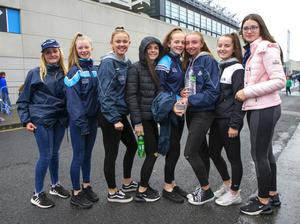 Supporters from Fingallians GAA at the All-Ireland Ladies final