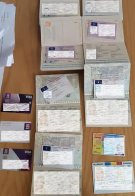 Documents seized in a previous raid on the gang